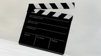film slate clapper 3d 3ds