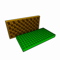 3ds max piece lego brick 8x16