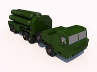 s-400 missiles 3d model