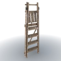 wooden ladder 3d max