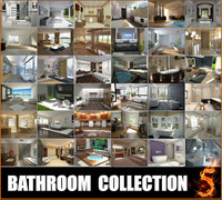 bathrooms scenes 3d 3ds