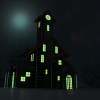small horror house 3d model