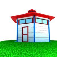 small house scene 3d max