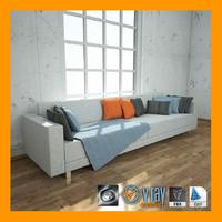 3d model sofa v-ray