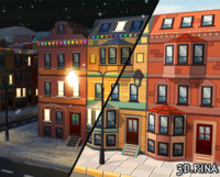 city constructor houses fbx