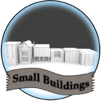 small city buildings 3d model