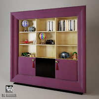 3d model exclusive bookcase