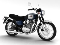 3d model kawasaki w800 2014 motorcycle