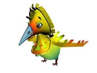 3ds funny cartoon bird