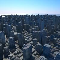 obj cityscape scene