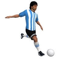 maradona animations 3d model