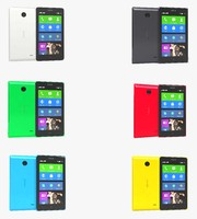 3d model nokia x colors