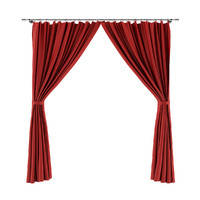 3dsmax red curtains