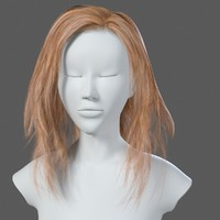 woman s hairstyle 3ds
