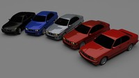3d model of bmw 5 series e34