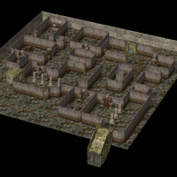 3d death set environment model