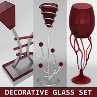Decorative glass set