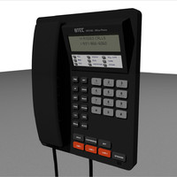 3d model of phone business office