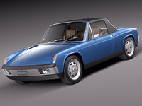 3d model porsche 914 1969