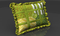 3d fbx country pillow