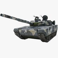 zulfiqar iranian main battle tank 3d max