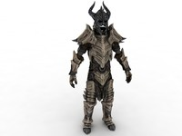 3d model dragonbone armor