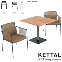 kettal net dining table 3d model