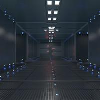 cinema4d sci fi corridor