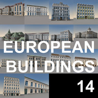 european buildings europe 3d obj