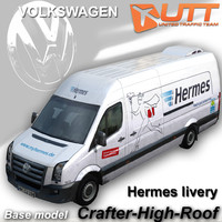 3d volkswagen crafter hermes model