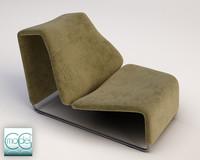 chair b italian 3d c4d