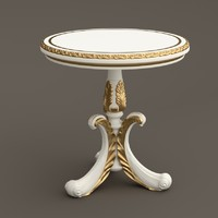 3d baroque table model