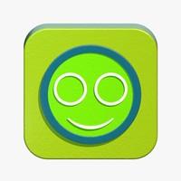 smile icon 3d model