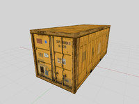 3d shipping cargo container model