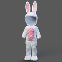 3d model child rabbit outfit rigged