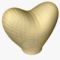 heart flying lantern 3d model