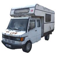 3d classic caravan van