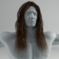 3ds max long hair