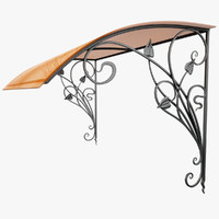 Wrought Iron Awning 12