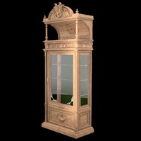 set classical antiquarian room 3d model