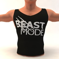 3d model bodybuilding t-shirt body