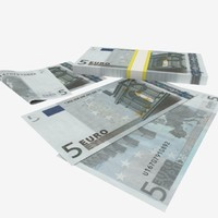 5 Five Euro Banknote