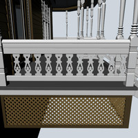 3d decorative baluster model