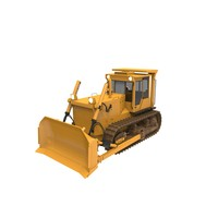 bulldozer industrial 3d model