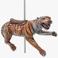carousel tiger 3d model