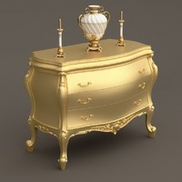 baroque commode 3d obj