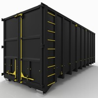 A 40m³ roll-off container(dumpster)