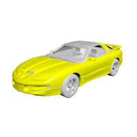 free 2003 blue pontiac gto 3d model