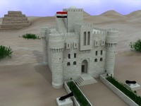 3d model castle beige kaitbay