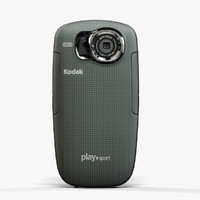 low-poly kodak playsport zx5 3d max